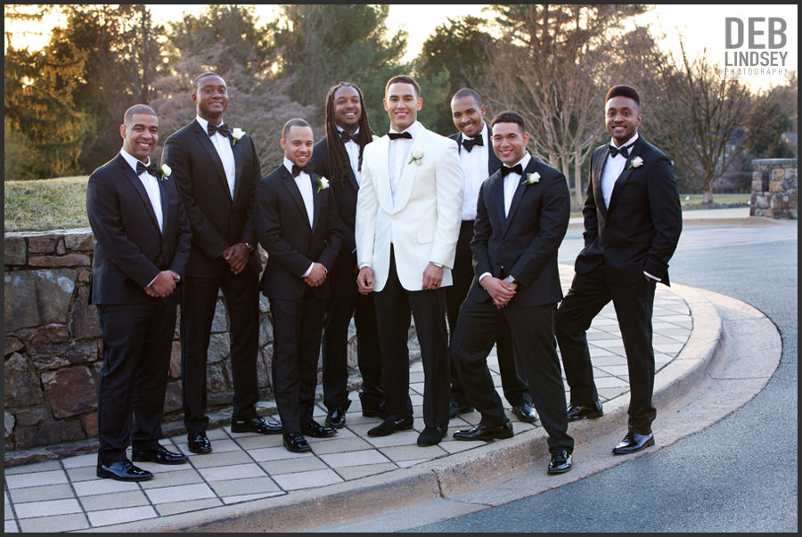 Groom and Groomsmen at Bethesda Country Club. Howerton+Wooten Events.