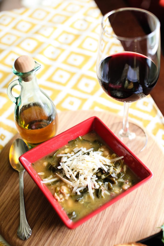 White Bean and Collard Green Soup. Howerton+Wooten Events.