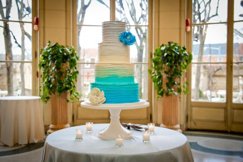 Blue Ombre Wedding Cake. Howerton+Wooten Events.