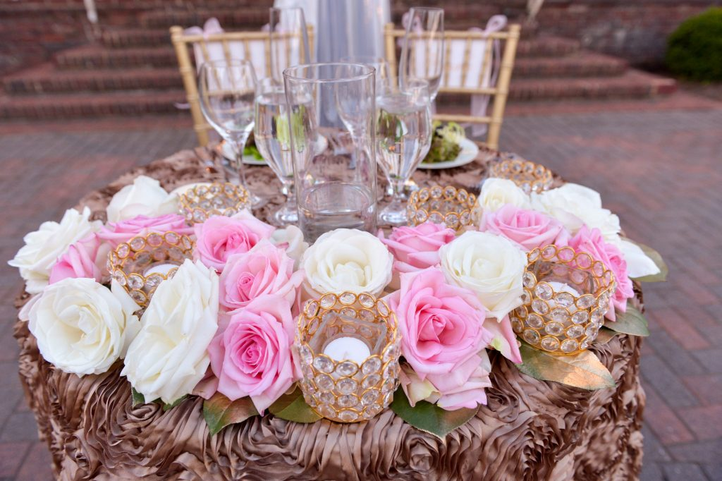 Blush and Gold Sweetheart Table. Howerton+Wooten Events.