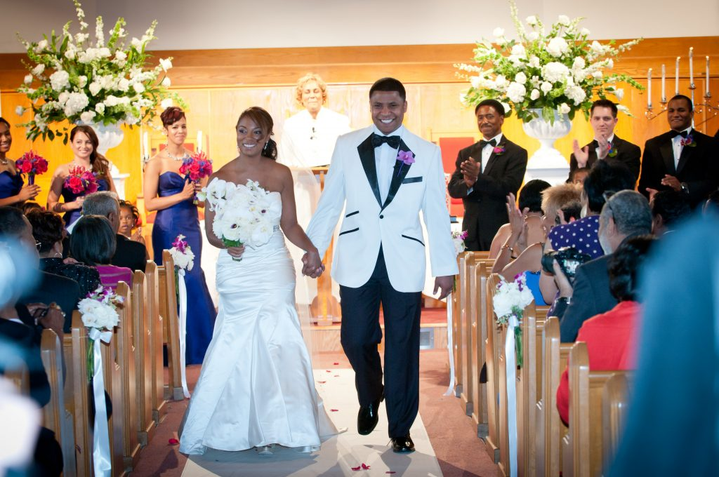 Bride and Groom Alfred Street Baptist Church. Howerton+Wooten Events.