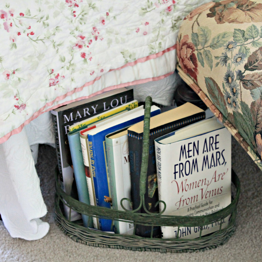 Books in a Guest Bedroom. Howerton+Wooten Events.