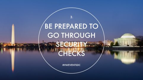 Be Prepared to Go Through Security Check. Howerton+Wooten Events.