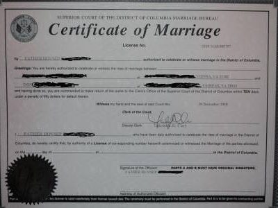 How to Apply for a Washington DC Marriage License