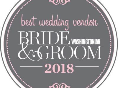 Washingtonian Bride & Groom Best Wedding Vendor 2018. Howerton+Wooten Events