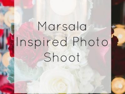 Marsala-Inspired Wedding Reception Shoot