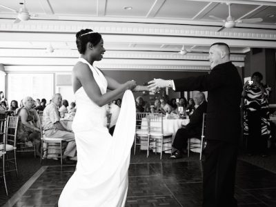 Black Bride and White Groom Dancing. Howerton+Wooten Events.