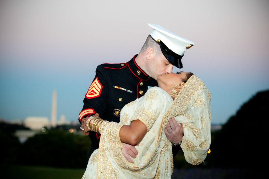 Marine Groom and Pakistani Bride. Washington DC. Howerton+Wooten Events.
