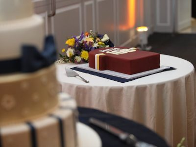 Wedding Cake and Groom's Cake. MadWorks Photography. Howerton+Wooten Events.