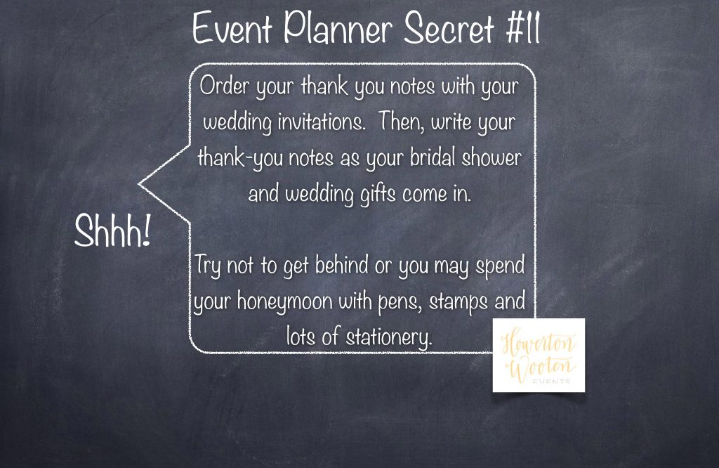 Event Planner Secret Stay Ahead Of Your Thank You Notes Howerton