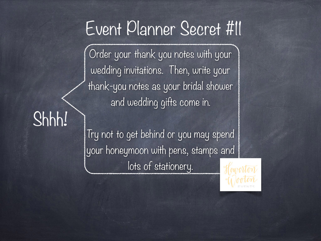 Event planner secret stay ahead of your thank you notes for For planner