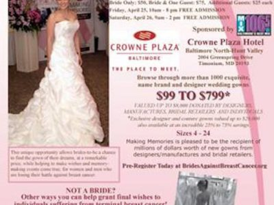Brides Against Breast Cancer Event coming to Baltimore