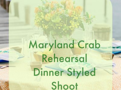 Our Maryland Rehearsal Dinner Shoot is on Bayside Bride Today