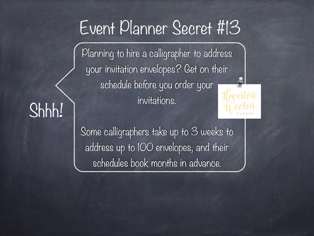 Event Planner Secret Don T Wait To Hire Your Calligrapher