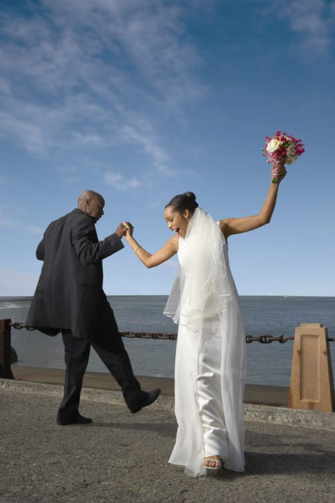 Happy African American Bride Groom