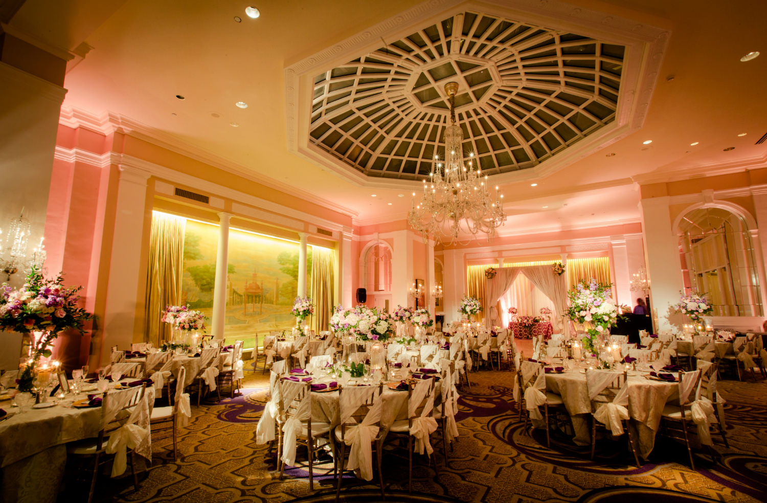 Wedding Reception at the Mayflower Hotel. Charlie Shin Photography. Howerton+Wooten Events