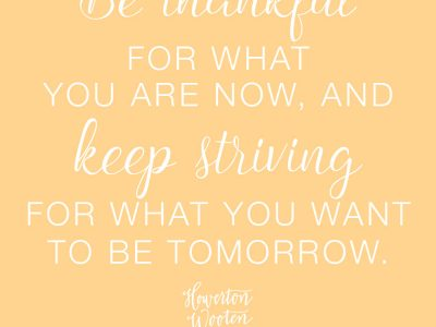 Monday Morning Thoughts: Keep Striving for What You Want