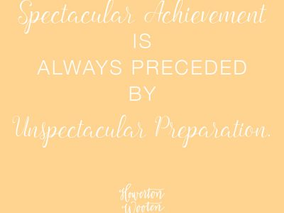 Monday Morning Thoughts: Unspectacular Preparation