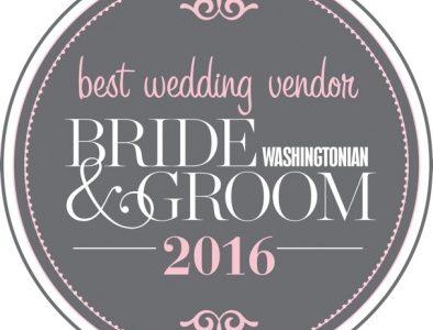 Washingtonian Bride & Groom Best Wedding Vendor 2016. Howerton+Wooten Events