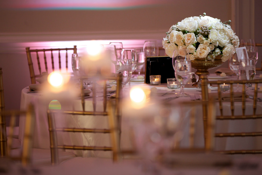 White Centerpiece Blush Lighting