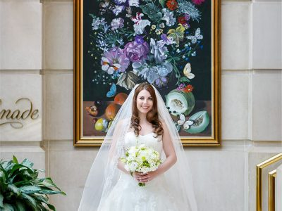 Bride in a Formal Wedding Gown. Howerton+Wooten Events. Stephen Bobb Photography.