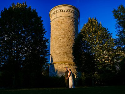 Bride and Groom at President Lincoln's Cottage. Howerton+Wooten Events.