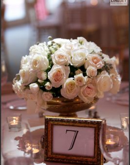Reception Flowers at the Bethesda Country Club. Howerton+Wooten Events.