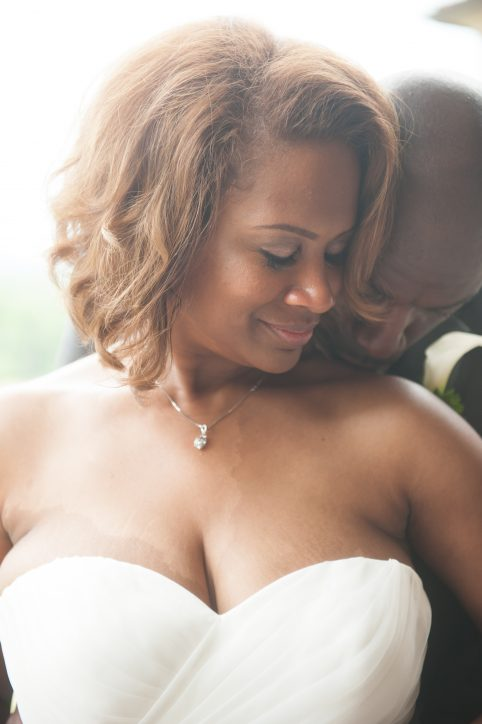 African American Bride and Groom in Love. Howerton+Wooten Events.