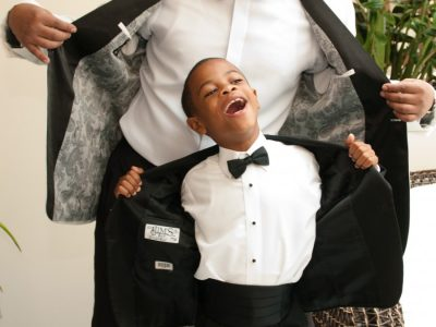 African American Groom and Ring Bearer. Howerton+Wooten Events.