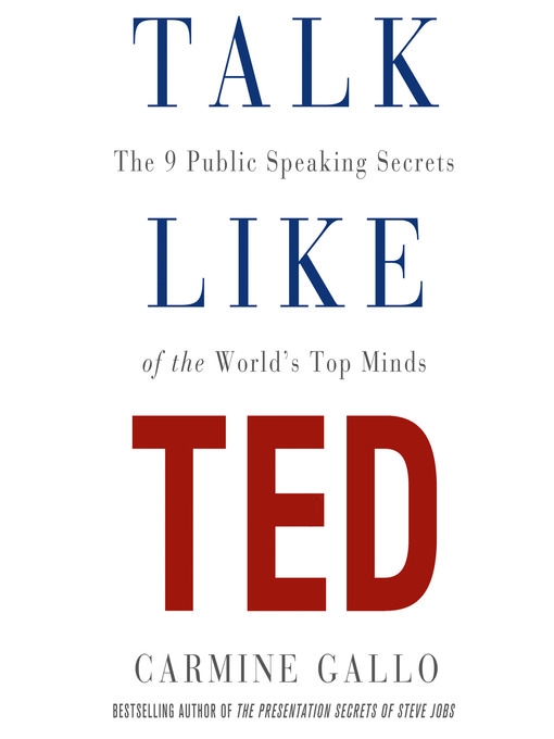 ted talk book how to be heard