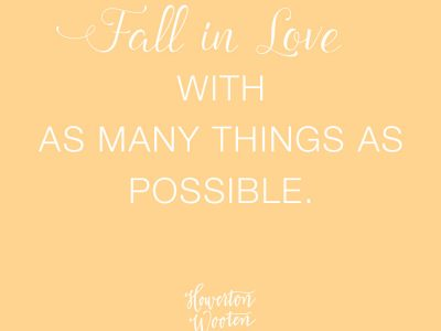 Fall in Love. Howerton+Wooten Events.