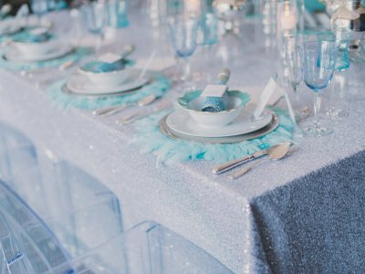 Glam Table Linen. Howerton+Wooten Events.
