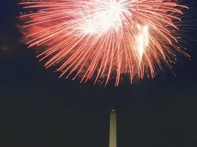 View of the 4th of July Fireworks in Washington DC. Howerton+Wooten Events.