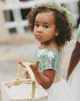 African American Flower Girl. Howerton+Wooten Events.