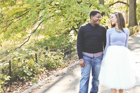 Couple in Central Park. Howerton+Wooten Events.
