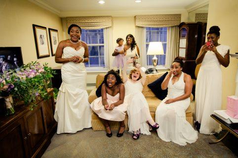 Excited Bridesmaids. Howerton+Wooten Events.