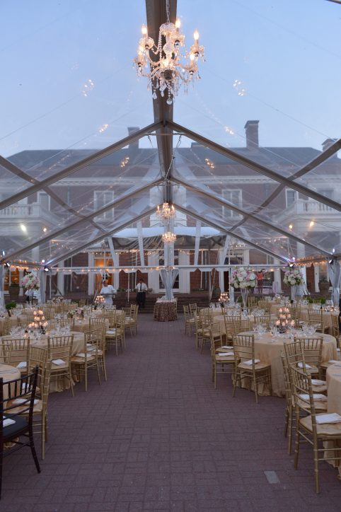 Outdoor Reception Tent at Oxon Hill Manor. Howerton+Wooten Events.