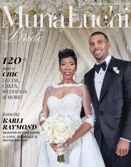 MunaLuchi Bride Magazine. FallWinter 2016 Cover. Howerton+Wooten Events.