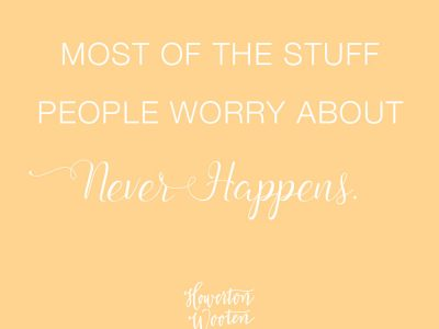 Monday Morning Thoughts. Howerton+Wooten Events.