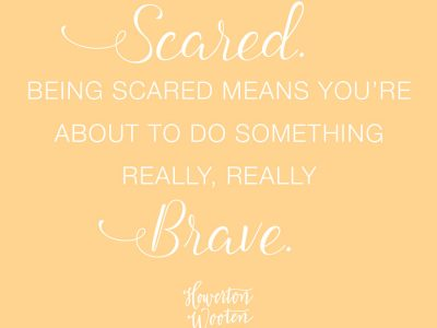 It's Okay to be Scared.