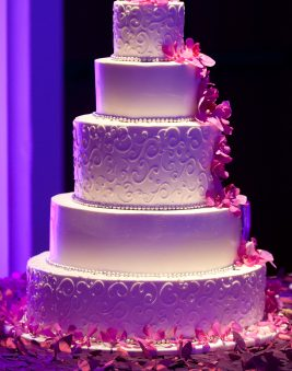 Five Tier Wedding Cake. Howerton+Wooten Events