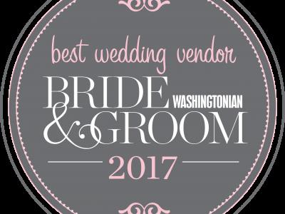 Washingtonian Bride & Groom Best Wedding Vendor 2017. Howerton+Wooten Events.