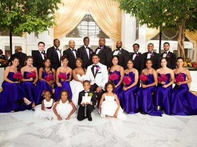 African American Wedding Party. Gaylord National Harbor. Howerton+Wooten Events.