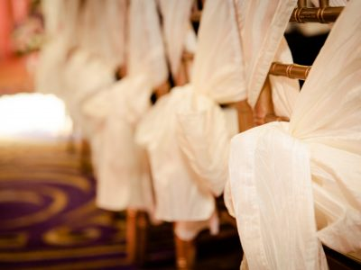 Chiavari Chairs Tied with Sashes. Howerton+Wooten Events.