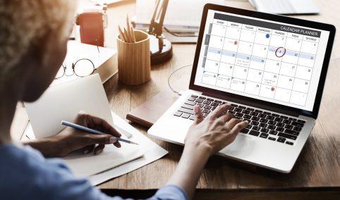 Bride and Planning Calendar. Howerton+Wooten Events.