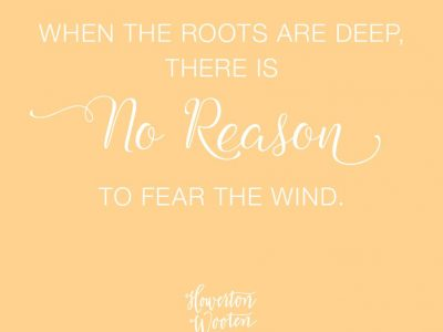 There is No Reason to Fear the Wind. Howerton+Wooten Events.