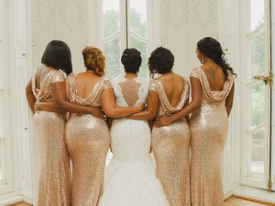 Stylish Bridesmaids. Howerton+Wooten Events.