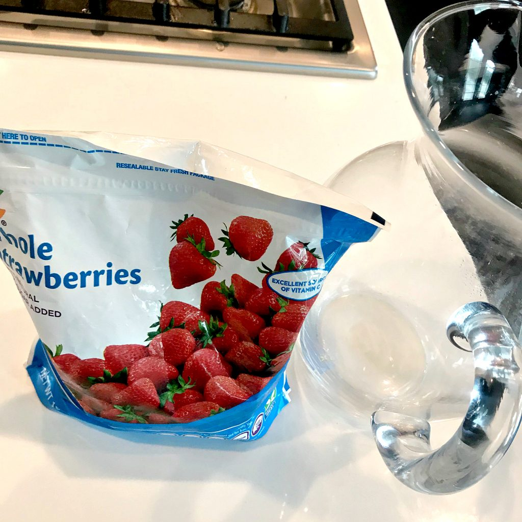 Frozen Strawberries and a Pitcher. Howerton+Wooten Events.