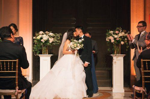 Asian Couple Wedding Ceremony. Howerton+Wooten Events.