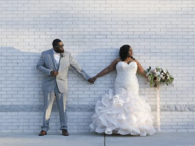 African American Bride and Groom in Virginia Beach. Howerton+Wooten Events.